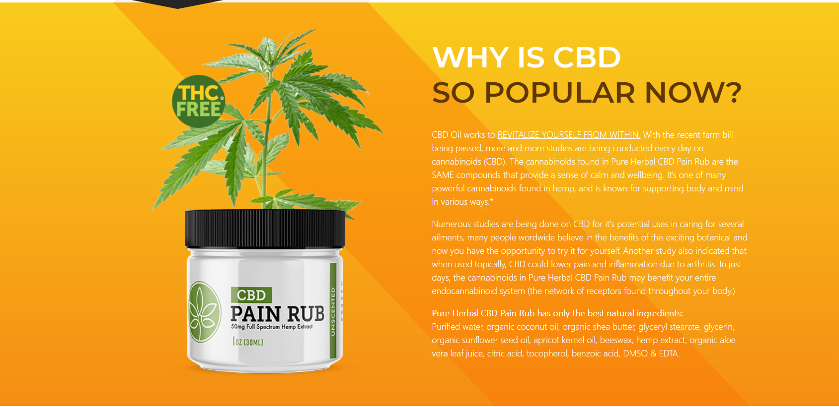 cbd pain rub rev