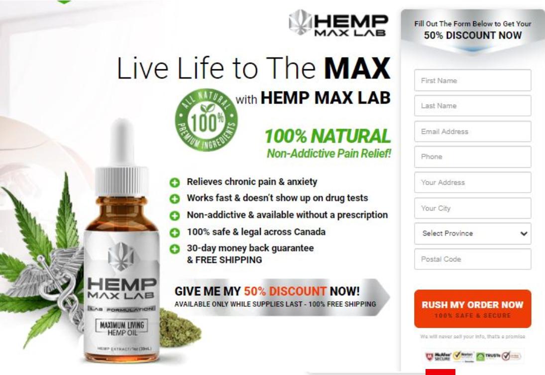 hemp max lab oil france